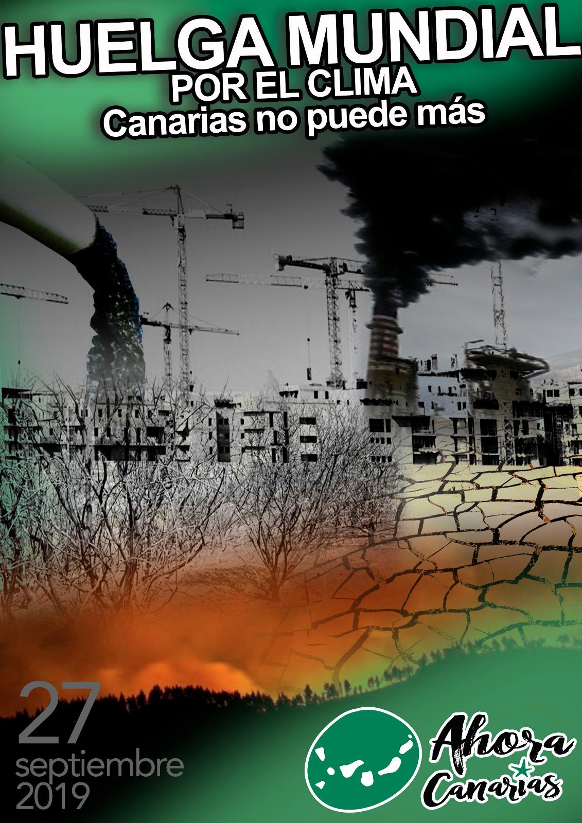 Ahora Canarias participa de la movilización mundial por el clima de este viernes